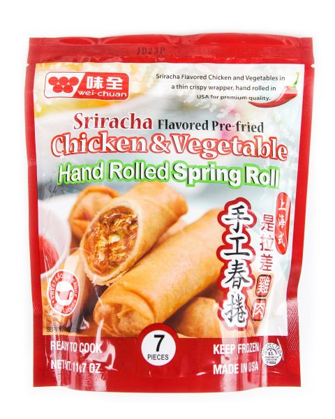 Sriracha Flavored Chicken & Vegetable Spring Roll