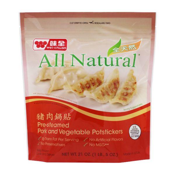 All-Natural Pork & Vegetable Dumpling Potsticker