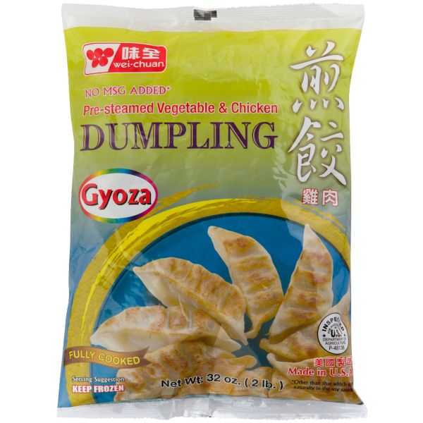 Fully Cooked Vegetable & Chicken Gyoza Dumpling