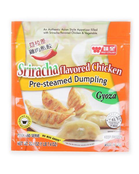Sriracha Flavored Chicken Gyoza Dumpling