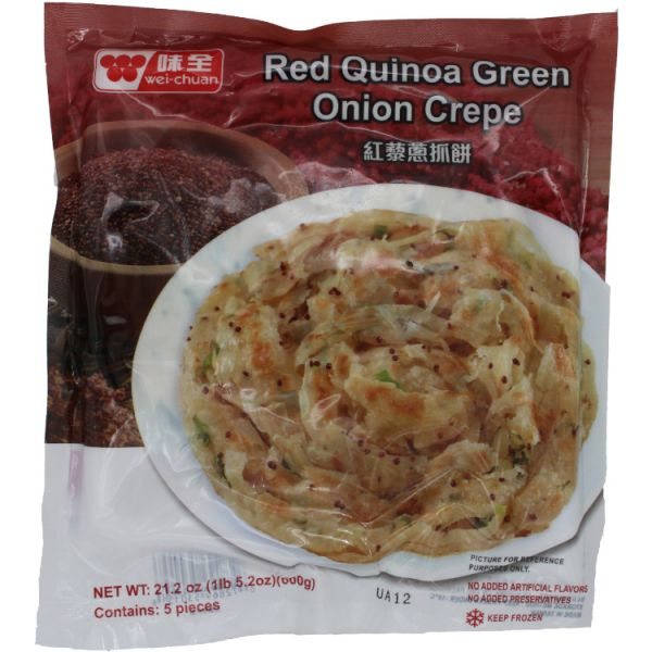 RED QUINOA GREEN ONION CREPE
